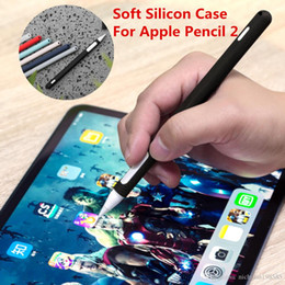Argentina Para Apple Pencil 2 Funda para iPad Pro 2018 Funda para lápices Tableta táctil Lápiz protector Funda protectora Funda de silicona suave portátil Suministro