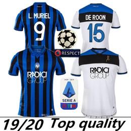 ventiladores de sala Rebajas TOP 19 20 Atalanta BC Jersey de Futbol 2019 2020 L.MURIEL Gosens DE SALA Iličić COMEZ Mancini DUVAN camisas de la fan versión de fútbol uniformes