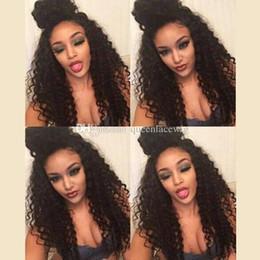 Kinky Kıvırcık Sentetik Saç Peruk Ücretsiz Stil Doğal Görünümlü Moda Peruk Dantel Ön Peruk Afrikalı Amerikalılar için 320g Doğal Siyah Renk cheap african fashion style lace nereden afrika moda stili dantel tedarikçiler