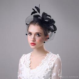 Siyah Modern Tüy Çiçek Gelin Şapka Düğün Için Tül Banqut Parti Akşam Specail Durum Örgün, Bayanlar Gelin Aksesuarları 201 nereden siyah sarı şapka tedarikçiler