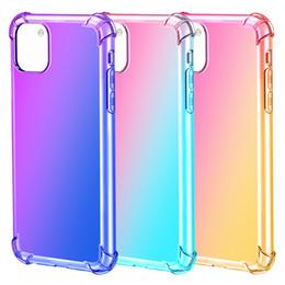Étui en silicone arc-en-ciel en Ligne-Antichocs Housses TPU couleur arc-en-11 pour iPhone Pro Max XR XS MAX 8 7 Samsung S10 plus Remarque 10 Plus