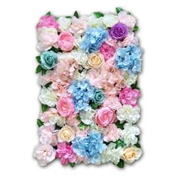 Flor rosa de seda Champagne Flor artificial para la decoración de la boda Flor de la pared Boda romántica Navidad telón de fondo Decoración desde fabricantes
