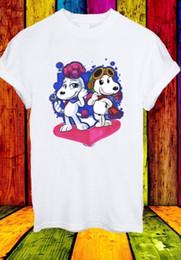 2019 free movie animation Amendoim Filme Snoopy Fifi Animação Dos Desenhos Animados Amor T-shirtFunny frete grátis Unisex Tshirt free movie animation barato