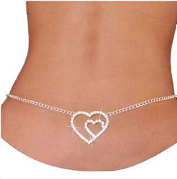 Amor coração carta querida diamante Cintura corpo jóias barriga Cadeia noiva do casamento do ventre barriga cadeias de jóias biquíni para as mulheres de
