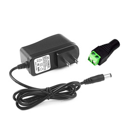 Appliques murales en Ligne-AC DC 12v adapter power supply EU UK AU US PLUG 5.5*2.5mm wall charger DC male female for led strip light lamp camera