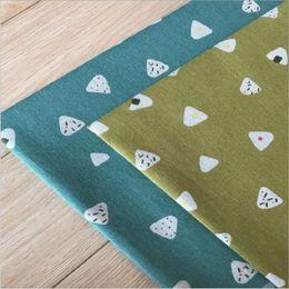 lona coberta de tecido Desconto 100x150 cm sushi impresso linho lona de algodão artesanal diy tecido de costura fronha sofá toalha de mesa capa tecido