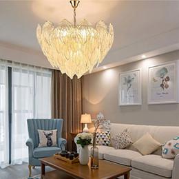 TEAEGG Lustre moderne nordique luxe designer italien créatif salon salle à manger chambre lampe lampe à feuille de verre ? partir de fabricateur