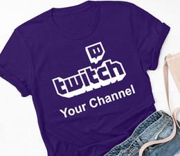 Twitch логотип персонализированные пользовательские футболки (ваш канал вещания стримеры подарок смешно бесплатная доставка мужская повседневная футболка топ от
