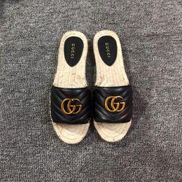 Argentina Mejor diseñador Diseñador de lujo Azul Rayas blancas Sandalias Denim Zapatillas planas de la marca Damas Verano al aire libre playa chanclas cheap denim flat sandals Suministro