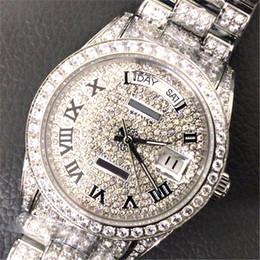 Мужской бриллиант онлайн-Календарь Full diamond 41мм 18к роскошные часы с автоматическим механизмом сапфировые мужские часы дизайнерские наручные часы высшего качества из нержавеющей стали 316