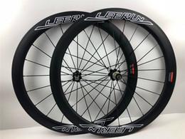 Gewebte fahrradräder online-Top Verkauf 50mm LEERUN Carbon Räder 3 karat UD 12 Karat weben fahrrad laufradsatz 700C Chinesischen OEM aufkleber Carbon Rennrad Drahtreifen Räder