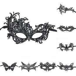 grandes oreilles en plastique Promotion Sexy Belle Dentelle Halloween Mascarade Masques Partie Masques Partie Vénitienne Demi-Masque Pour Noël Gratuit DHL 1119