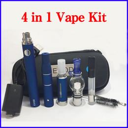 2019 ecig wachs-starter-kit 4 in 1 E Zigarette Starter Kit Glaskugel Wax Atomizer Ago G5 Dry Herb Vaporizer Vape Pen-Patronen Dab Pen Ecig Evod Batterie Kits günstig ecig wachs-starter-kit