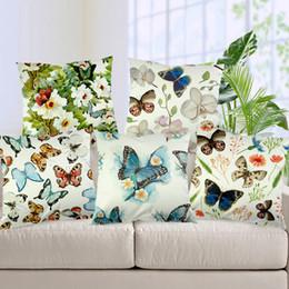 Argentina Patrón de mariposas funda de cojín para la decoración del hotel flores frescas mariposa sofá ropa de cama fundas de almohada supplier yellow throws pillows Suministro