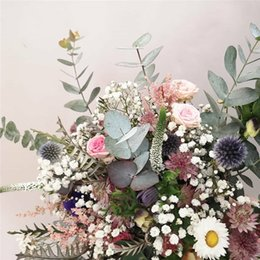 garden party flowers Coupons - 68cm Artificial Plants Hair pulp Eucalyptus leaves For Wedding Home Decoration Fake Plants Party Garden Table Decoration