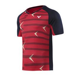Neues Badminton-Verschleißt-shirt 2019 von Victor, schnelltrocknende Männer / womenTable-Tennissport-Jerseyhemden, T-Shirts für Männer geben Verschiffen frei von Fabrikanten