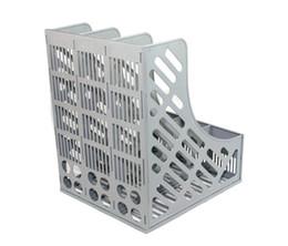 2019 arquivos de caixas de armazenamento armazenamento de mesa triplo arquivo A4 informações rack de arquivo caixa de arquivo de arquivo de plástico coluna papelaria material de escritório arquivos de caixas de armazenamento barato
