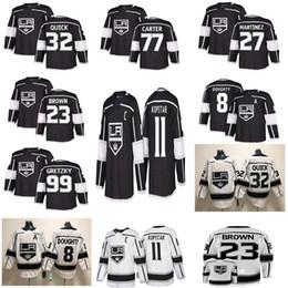 Jersey rápido online-Jerseys de hockey Los Angeles Kings 11 Anze Kopitar 32 Jonathan Quick 8 Drew Doughty 77 Carter 99 Wayne Gretzky Hockey Jersey