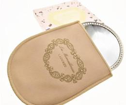 2019 sac d'emballage pour cosmétiques LADUREE Les Merveilleuses miroir de poche Miroir à main vintage en métal titulaire cosmétique de poche cosmétique Miroir de maquillage avec sac de transport emballage de détail sac d'emballage pour cosmétiques pas cher