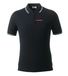 Спортивная рубашка-поло онлайн-Итальянский классический стиль поло мужской дизайнерский дизайн повседневная спортивная дикая рубашка поло тенденция простой печати цифровой дизайн хлопок высокого качества