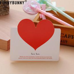 Carino carte d'amore online-FUNNBUNNY 10PCS Love Heart Biglietti d'auguri Carino Busta di benedizione Biglietto di auguri per Natale Decorazioni natalizie