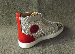 2019 scarpe rare Vogue originale Red Sneakers uomini scarpe di lusso Stampa Argento Rosa Pik No Limit borchie e strass RARE graffiti Casual Shoes 7fg sconti scarpe rare