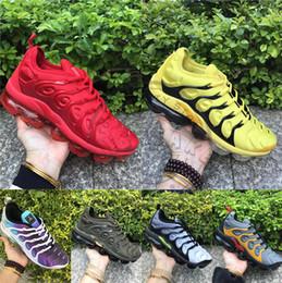 Scarpe da ginnastica khaki online-2019 Nuovo Tn Plus Bright Crimson Red Bumblebee Cargo cachi Scarpe da corsa blu Mens Womens utility Designer Sport Sneaker Sneakers Taglia 36-45