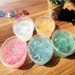 papeles mágicos Rebajas Mermaid Slime Candy Paper Magic Color Plasticene Lentejuelas Jelly Style Crystal Mud Summer Children Toys 60ml 1 3qx N1
