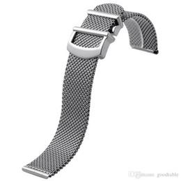 Ремешок из сетки для IWC Портофино из нержавеющей стали по-милански ремешок для часов 20 22MM от Поставщики сетка 22мм ремешок