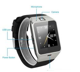 2019 mochila eletrônica Original DZ09 inteligente relógio Bluetooth Wearable Devices Smartwatch Para iPhone Android Phone Watch com câmera Relógio SIM TF Slot5a38 #