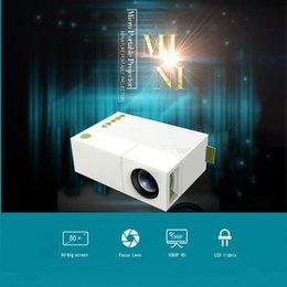 Projeção YG310 Projector LED LCD LED de alta resolução 400-600Lum 1080P Áudio AV cartão Micro SD slot Mini Projector de