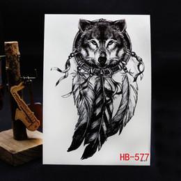Canada 2019 chaud nouvelle européenne et américaine créative simulation tête de loup autocollants de tatouage imperméable à l'eau de tatouage applique bras autocollants de tatouage Offre
