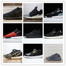 a04ba0e4a7586 Wholesale Free shipping 2016 NEW Y-3 QASA RACER High Grey Sneakers  Breathable Men Women Casual Shoes running shoes Y3 Outdoor Trainers y3  trainers for sale