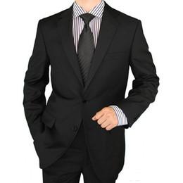 Nero / Grigio nozze smoking per usura dello sposo 2019 Classic Fit intaglio Lapel due pezzi dei vestiti su ordine di feste degli uomini (Jacket + Pants) da