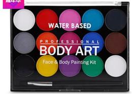 2019 materiali all'ingrosso portachiavi I fan Non tossici Art Face Makeup Cosplay Pigmento Devil con pennello solubile in acqua partito Disegno Body Paint Fancy Safe Use