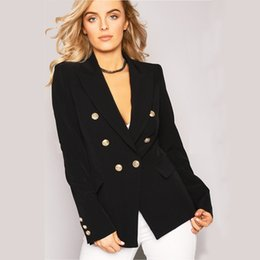 Blazers cortos para mujer online-Mujer Moda Slim Suit Temperamento Easy Time Short Tops Ropa de mujer Double Breasted 2019 Solid Loose Womens Blazers