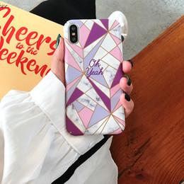 stitch handy fällen Rabatt Für iphone xs max phone cases marmorierung geometrische nähte peeling luxus pc all inclusive hard handy case für iphone 6 7 8 plus
