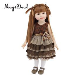 Niños recién nacidos online-18inch Fashion Girl Doll - Reborn Kits Toddler Baby Doll - Piel natural Little Girl Model - Para American Girl Doll Accesorio