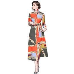 Venta al por mayor / al por menor / envío de moda Moda vintage floral impreso cuello de manga larga tubo alto mujer maxi vestido desde fabricantes