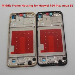 2019 logo apple back door Custodia telaio centrale per Huawei P20 lite nova 3E Cornice targa posteriore + pulsante di accensione per Huawei P20 lite + attrezzo + regalo
