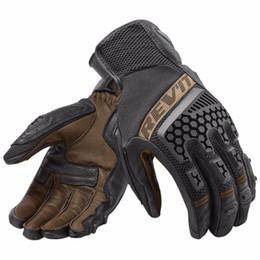Перчаточный кожаный сенсорный экран онлайн-2018 REVIT Sand 3 Дышащая перчатка Мотоцикл Велоспорт Езда Гонки Кожаные перчатки Мотокросс Сенсорный экран Guantes