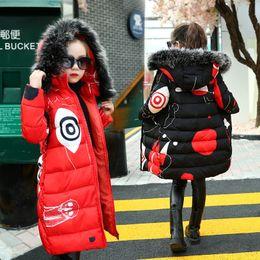 2019 chicas negras vistiendo casuales Adolescentes 2019 Nueva Negro gruesa roja usan la capa de invierno traje niño ocasional chaquetas para 3-14 años rebajas chicas negras vistiendo casuales