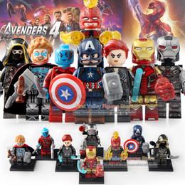 Martillo de hierro online-Marvel Avengers Endgame Building Blocks Thanos Martillo de Thor Capitán América Iron Man Infinity Ladrillos Guante Juguetes WM6056