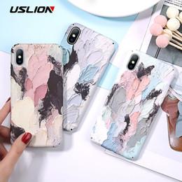 Canada Cas de téléphone lumineux pour Iphone 7 Xr Xs Maxi 3d colorant Graffiti cas pour Iphone 6 6s 7 8 Plus X Couverture rigide Pc Fundas Coque Offre