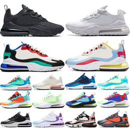 2020 mujeres blancas huaraches Nike Air Max 270 React 2018 Classical Huarache 4 Running Shoes Huaraches 1 Mujeres para hombre Triple Black White Red Green Mesh Sports Casula Sneakers EE. UU. 5.5-11 mujeres blancas huaraches baratos