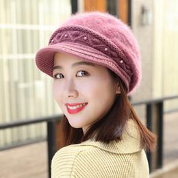 продажа вязаных беретов Скидка 2019 мода Hat женщины зима теплая твердые вязаная шапка берет мешковатые Шапочка сутулиться лыжная шапка горячие продажа