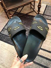 sandalia militar Rebajas París Diseñador de lujo Para mujer Para mujer Sandalias de verano Zapatillas de playa Zapatillas de deporte de las señoras Chancletas Imprimir Color sólido Verde del ejército con caja