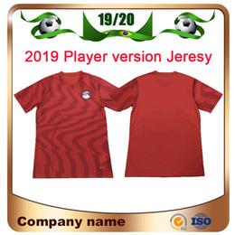 Мужские рубашки онлайн-Версия для игрока 2019 Egypt Home Red Soccer Jersey Египет 19/20 # 10 M.SALAH Футбольная футболка в гостях Белая национальная команда Футбольная форма продаж