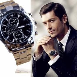 máquinas de relogio de quartzo Desconto Gofuly Hot Sale relógio de quartzo Homens à moda elegante do negócio Stainless Steel Band Machinery Sport Watch Casual
