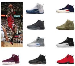 nuevo patrón de zapatos para hombre. Rebajas 12s hombres zapatos de baloncesto 12 Año chino y blanco Nuevo patrón Hombres entrenadores Zapatillas deportivas al aire libre senderismo zapato de diseñador de zapatos